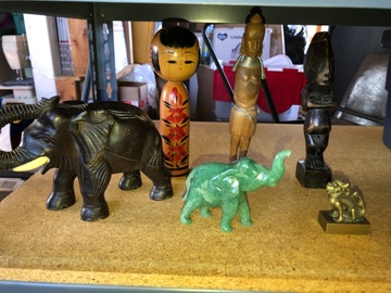 Liquidation/Wholesale Lot: Tribal artifacts & elephant figures