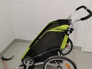 Vuokrataan (päivä): Pyöräkärry yhdelle lapselle