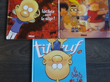 """Selling: 3 BD """"TITEUF"""" - Tomes 8, 11 et 12 - Glénat"""