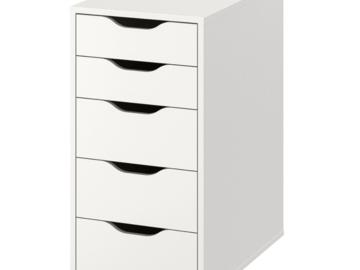 Myydään: IKEA Drawer set white