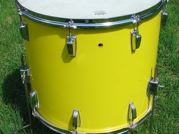 Selling with online payment: Mid 1970s  Ludwig 16 x 18 floor tom .  3 ply shell