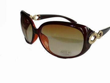 清算批发地: Women's Chic Gold Accent Sunglasses – Item #1501