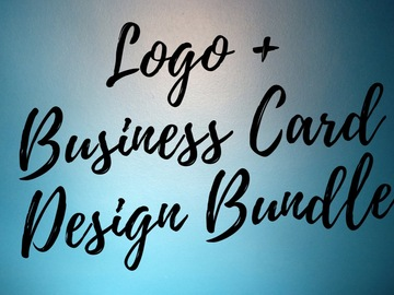 Offering online services: Logo design + business card design bundle