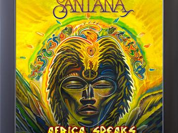 Vente: Disque vinyle encadré Africa Speaks de Santana (Neuf)