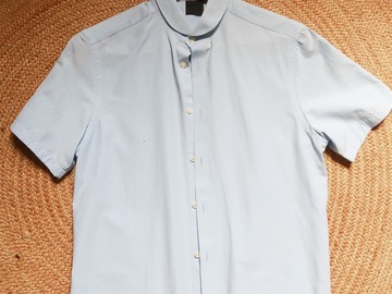 Selling without online payment: Round neck shirt (sky blue)
