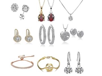 Liquidation/Wholesale Lot: 100 Pieces Asst Swarovski Elements Jewelry - Sale 3 days only!!