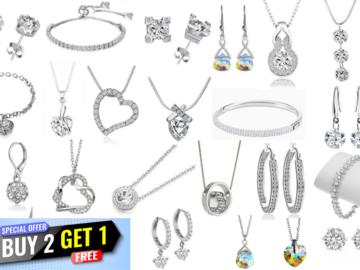 Liquidation/Wholesale Lot: Buy 2 Get 1 FREE -35 Assorted pieces Swarovski Elements Jewelry