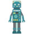 Liquidación / Lote Mayorista: Petit Collage Blue Robot Folding Growth Chart Lot of 24