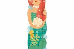 Liquidación / Lote Mayorista: Petit Collage Little Miss Mermaid Folding Growth Chart Lot of 24