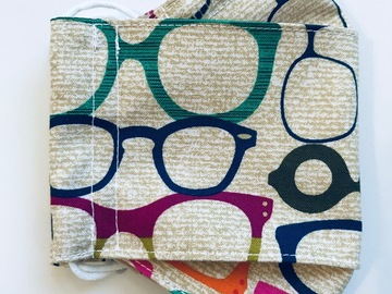 Selling with online payment: Handmade Glasses Themed Face Mask