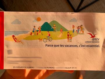 Vente: Chèques vacances ANCV (370€)