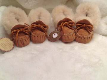 Selling: Baby And infant mocassins genuine sheepskin from Quebec canada