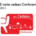 Vente: E-carte cadeau Conforama (120€)