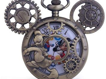 Liquidation/Wholesale Lot: Mickey and Donald Pocket Watch