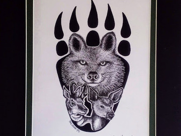 Selling with online payment: Animals of the Great Basin Print