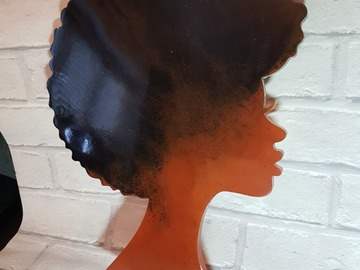 For Sale: Afro woman, afro puff, black man tray