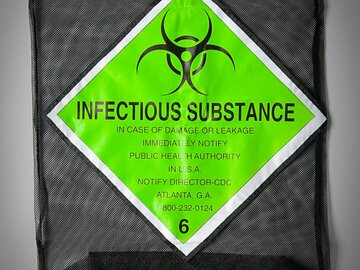 """Selling A Singular Item: New """"Infectious Substance"""" Laundry Bag"""