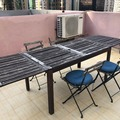 Selling without online payment: Ikea Applaro outdoor table + Tarno chairs (4 chairs) w/cushions