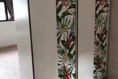 Selling without online payment: Ikea Trysil wardrobe, w/customized tropical stickers, 2 items