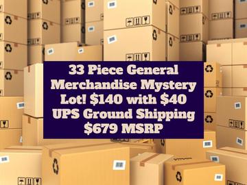 Liquidation/Wholesale Lot: REDUCED 33 Piece GM Mystery Box