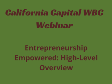 Announcement: Entrepreneurship Empowered: High-Level Overview