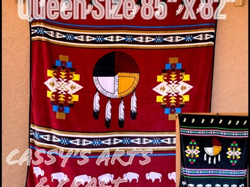 Selling with online payment: Southwest Queen Size Reversible Blankets
