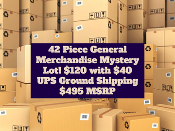 Liquidation/Wholesale Lot: REDUCED 42 Piece General Merchandise Mystery Box