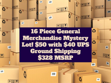 Liquidation/Wholesale Lot: REDUCED 16 Piece General Merchandise Mystery Box