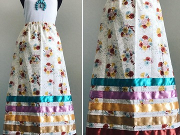 Selling with online payment: Soft Floral Cotton Ribbon Skirt