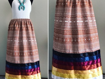 Selling with online payment: Desert Clay Cotton Ribbon Skirt