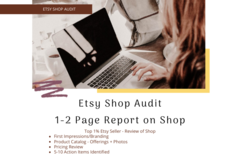 Offering expert consultation: Etsy Shop Audit + Report