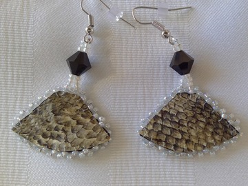 Selling with online payment: Salmon Skin Earring