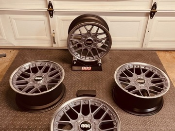 Selling: Rare 18x8.5 +22 5x112 BBS RS700 superconcave 2pc forged wheels