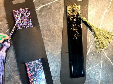 For Sale: Resin Art personalised bookmarks