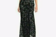 For Sale: BCBG Max Azria Katrina Short Cape Sleeved Lace Gown