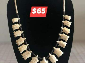"""Selling with online payment: 18"""" Turtle bone necklace"""