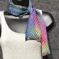 """Selling with online payment: Hand Dyed Silk and Rayon Scarf in  Pastel Dots 8"""" x 54"""""""