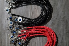 Liquidation/Wholesale Lot: Evil eye protection bracelet hott seller 10 piece red 10 black