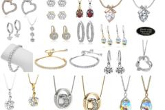 Liquidation/Wholesale Lot: 50 Pcs Swarovski Elements Jewelry -Love it or your money Back!