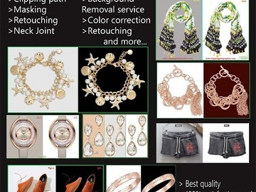 Offering with online payment: Photo Editing Services || Clipping Path Graphics
