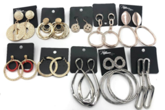 Liquidation/Wholesale Lot: 100 Pair Statement Earrings Every pair different- BELOW WHOLESALE