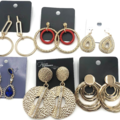 Liquidation/Wholesale Lot: 200 Pair Statement Earrings Every pair different- BELOW WHOLESALE