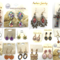 Liquidation/Wholesale Lot: 1,000 Pair Sample Earrings Gorgeous styles !Tons of styles !!