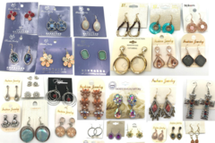 Liquidation/Wholesale Lot: 500 Pair Sample Earrings Gorgeous styles !Tons of styles !!