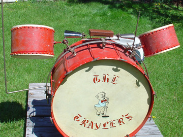 Selling with online payment: SOLD -Rare 1938 WFL Ray Bauduc Bob Cat drum set One owner SOLD