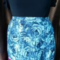 Selling with online payment: Ribbon Skirt Blue Floral XL