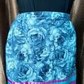 Selling with online payment: Ribbon Skirt Blue Floral II XL