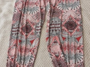Selling without online payment: Boho Feather Design Trousers