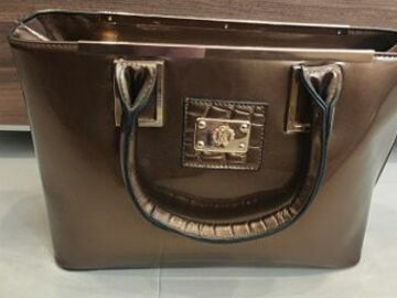 Selling without online payment: Bronze evening handbag