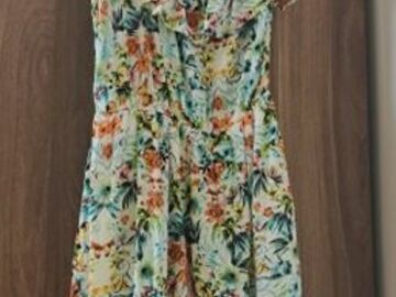 Selling without online payment: Tropical design casual dress